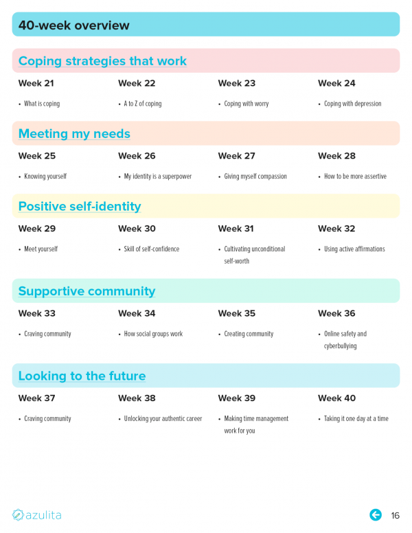 40 week overview page 16